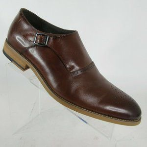 Stacy Adams Dinsmore Cognac Monk Strap Dress Shoes